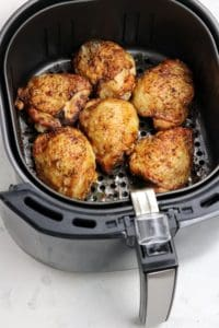 air fried chicken thighs.