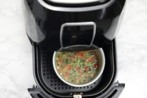 omelette pan in the air fryer.