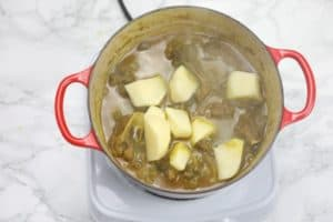 potatoes added to thicken.