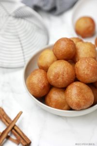 Puff puff served in a small bowl.